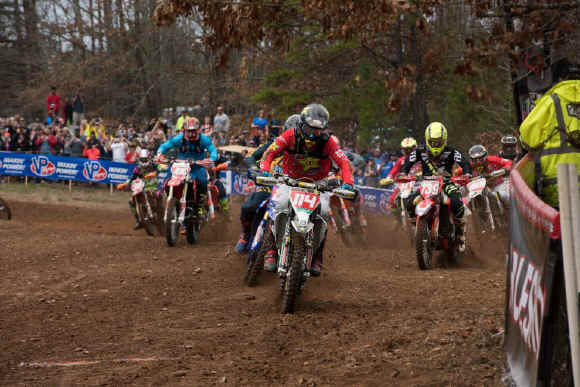 Josh Strang grabbed the All Balls Racing $250 XC1 Holeshot at round one.
